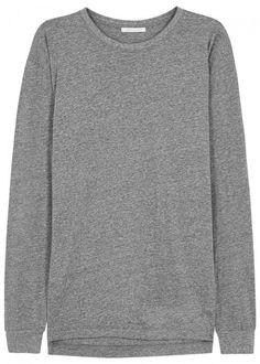 JOHN ELLIOTT GREY MÉLANGE JERSEY TOP. #johnelliott #cloth #