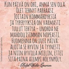 Tämä on hyvä muistutus meille kaikille, vai mitä? Bad Day Quotes, Wise Quotes, Lyric Quotes, Mood Quotes, Inspirational Quotes, Qoutes, Big Words, Cool Words, Take What You Need