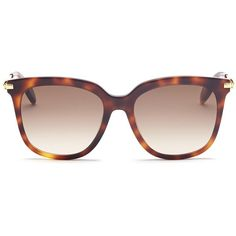 Alexander McQueen Skull hinge metal temple tortoiseshell acetate... (1,170 PEN) ❤ liked on Polyvore featuring accessories, eyewear, sunglasses, animal print, alexander mcqueen eyewear, tortoiseshell glasses, animal print sunglasses, acetate glasses and alexander mcqueen sunglasses