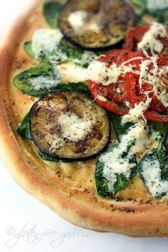 Gluten Free pizza crust- I have to make this. I miss pizza.