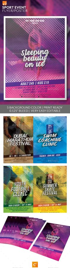 Sport Event Flyer/Poster v7 by CreativeComplex Sport Event Flyer/Poster v7 Flyer design template made on sport or event, festival theme with simple contents and futuristic style