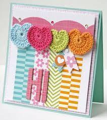 heart card crochet