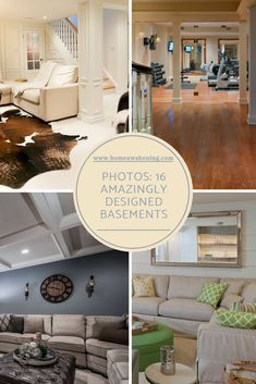 16 absolutely amazing basement design ideas #homedesign #basement #finishedbasemenet