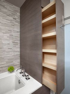 Creativos gabinetes de baño via blog White Hat Architecture