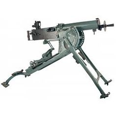 WWI German 1908 (DWM) Maxim Heavy Machine Gun Complete with Large Folding Mount, Ammunition Belt Loa