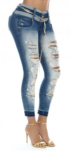 Jeans levanta cola WOW 86229 Azul