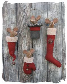 Not your ordinary Christmas stockings, LOL. Free Primitive Sewing Patterns from Sew Primitive Shoppe Epatterns. Prim Christmas, Christmas Sewing, Christmas Makes, Christmas Stockings, Father Christmas, Country Christmas, Cowboy Christmas, Primitive Christmas Ornaments, Primitive Christmas Patterns