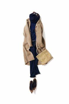 Kyoto Kikuchi's Closet #kk-closet リラックス×ゴールド小物 Mode Outfits, Chic Outfits, Winter Outfits, Fashion Outfits, Womens Fashion, Work Fashion, Daily Fashion, 365days, Fashion Capsule
