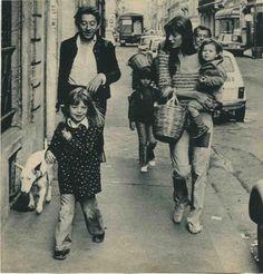 Serge Gainsbourg, Jane Birkin + family