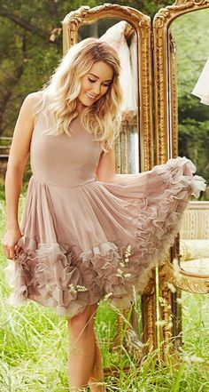 Sweet and romantic, LC Lauren Conrad Runway look gives you enchanting style.