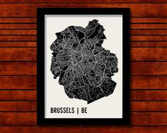 Brussels+Map+Art+City+Print+by+MrCityPrinting+on+Etsy,+$28.00