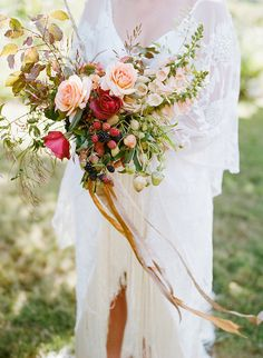 Studio Choo Florists, Bohemian Outdoor Farm Wedding