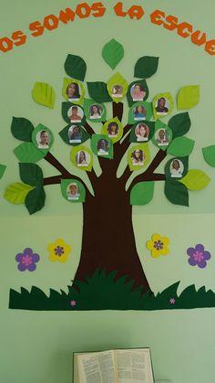 Mural del personal docente y administrativo arbol