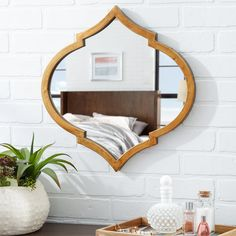Complete your guest suite ensemble or gallery display with this essential mirror, the perfect piece for any wall.