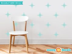 Our retro stars fabric wall decals are available in 19 color options and give your room an instant makeover. Easy decorating, high quality, amazing value. Shop now!