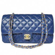 d43c2113216 Chanel Shoulder Crossbody 1113 Goldzipper Blue #Chanelhandbags