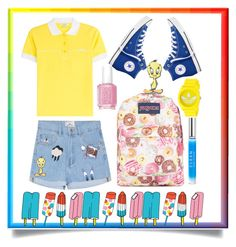 SPLASH of COLOUR  on  Polyvore featuring polyvore fashion style Carven Converse JanSport adidas Tattly CLEAN Essie clothing
