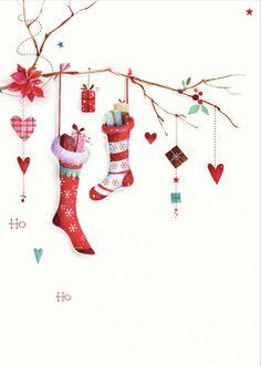 Lynn Horrabin - stockings-wishing well.jpg - Lynn Horrabin – stockings-wishing well. Christmas Clipart, Noel Christmas, Christmas Printables, Christmas Pictures, Christmas Greetings, Winter Christmas, Vintage Christmas, Christmas Stockings, Christmas Crafts