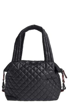 MZ Wallace 'Medium Sutton' Quilted Oxford Nylon Shoulder Tote