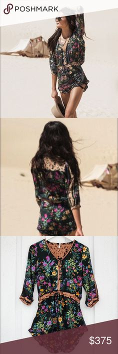 Spell Designs Gypsy Queen Floral Black Romper New without Tags. Never been worn. Spell & The Gypsy Collective Other