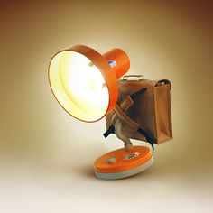 Lamps - CEZ advertising campaign by Tomas Muller, via Behance