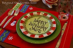 Really neat Jesus Birthday Plates!!!