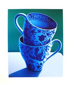 Michael Smither - Artist Painter Screenprints New Zealand Landscapes and Domestic Life Blue And White China, Love Blue, Auckland Art Gallery, Still Life Artists, New Zealand Landscape, Painting Still Life, Vanitas, Mothers Love, New Art