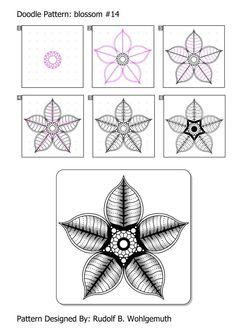 Draw Flower Patterns www.de zendoodle html zd_doodle_pattern. Doodle Zen, Tangle Doodle, Tangle Art, Zentangle Drawings, Doodles Zentangles, Doodle Patterns, Zentangle Patterns, Tangled Flower, Flower Pattern Drawing