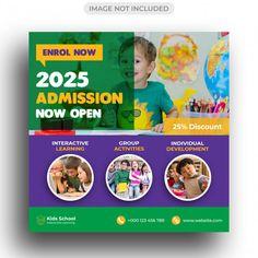 50 Kids Education Flyer Social Media Post Template Ideas Kids Education Education Flyer