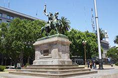 El Monumento ecuestre al General Manuel Belgrano es una obra realizada en bronce sobre un gran pedestal de granito, que muestra al prócer argentino Manuel Belgrano sosteniendo la Bandera Argentina en actitud de tomar juramento. Se encuentra en la Plaza de Mayo, en la ciudad de Buenos Aires.