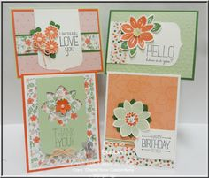 FREE TUTORIAL on Create with Connie and Mary, Petal Potpourri, Because You Care, Party Pennants, Stampin Up, #stampinup, Connie Babbert, www.inkspiredtreasures.com