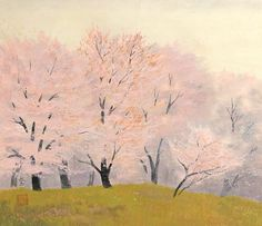 Chikkyo Ono 小野竹喬筆 (1889-1979). A student of Takeuchi Seiho and an influential painting professor in Kyoto.