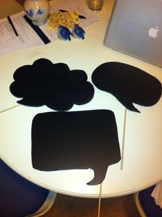 you can buy chalkboard contact paper on amazon for cheap and make these diy photo booth props..