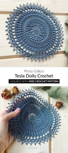 tesla doily crochet haaksteken patronen gehaakt motief ambacht van het haken gehaakte projecten