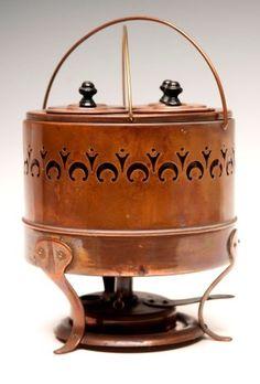 137: Copper Egg Boiler : Lot 137 Copper Pots, Copper And Brass, Hammered Copper, Antique Copper, Decorative Accessories, Decorative Boxes, Copper Crafts, Country Kitchens, Iron Decor
