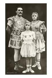 Gladitor circus family portrait _ vintage circus preformers