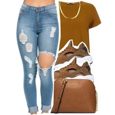 2/15/16 by lookatimani on Polyvore featuring polyvore, fashion, style, NIKE, MICHAEL Michael Kors and clothing