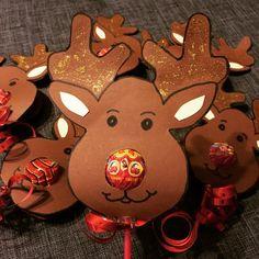 Lustige Elche für Kinder zur Weihnachtszeit Chupa Cups Lutscher