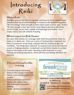 What is Reiki for Breaktime Massage and Hands of Light Reiki
