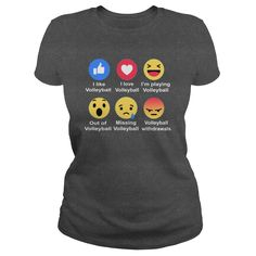 Volleyball Reactions T-shirts