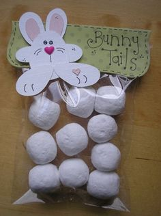 Quick & Easy Easter Treats:  Store-bought donut holes work great for Its All Fiddle Farts Bunny Tails.  Their link also has the Printable for the tag that you could set next to the bowl on the dessert table.