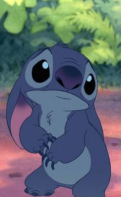 Look at this little sadness! (I love Stitch) <3