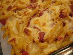 tomato and mozzarella pasta