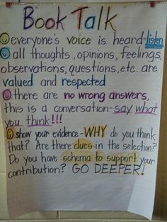 Book Talk-good idea for mini-lesson at the beginning of the year