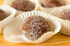 Chocolate Bourbon Balls- No Bake We used to make rum balls with this recipe when I was growing up...so easy and so good!