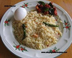 Egg Pulav | Simple Indian Recipes