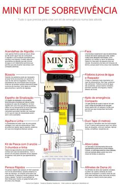How to make your own Altoid tin survival kit. Survival Life is the best source for survival tips, gear and off the grid living. -- Click image for more details. Homestead Survival, Survival Life, Survival Tools, Wilderness Survival, Survival Prepping, Emergency Preparedness, Survival Gadgets, Survival Items, Office Survival Kit