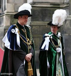 Duke of Cambridge & the Princess Royal at St Giles' Cathedral, Edinburgh