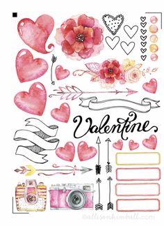 FREE valentine's planner download