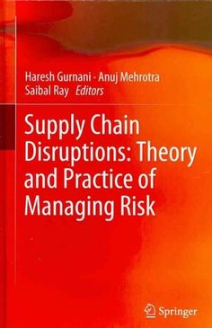 Supply Chain Disruptions: Theory and Practice of Managing Risk